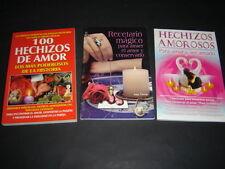 #19 JUEGO 3 BOOKS AMOR Libros hechizos amorosos formulas secretas brebajes LOVE