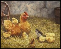 Chicken Hen and Her Chicks - Chart Counted Cross Stitch Pattern Needlework DIY
