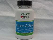 GINSING~ L-TAURINE~B VITAMINS Aminos 30 capsules Inner-G Zing Dietary supplement