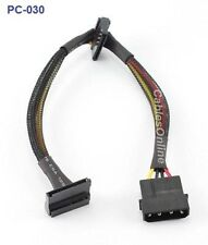 "12"" 4-Pin Molex Male to 2 SATA 15-Pin Power Connectors"