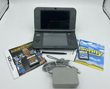 Nintendo New 3DS XL Black with Charger / 2 Games / Stylus / Model Red-001 System