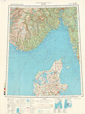 Russian Soviet Military Topographic Maps - OSLO (Norway) 1:1 000 000, ed.1983