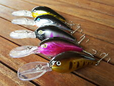 5x Deep Diving Fishing Lures Extra Large, Murray Cod, Yellowbelly, Redfin, Barra