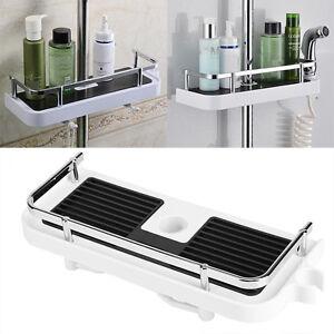 Stainless Steel Kitchen Bathroom Shower Shelf Storage Baskets Caddy Rack Holder