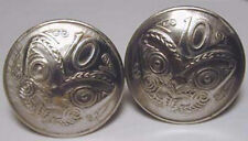 cuff links- New Zealand Fierce Maori mask coin