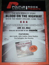 Ken Hensley (Uriah Heep) TOUR POSTER Amburgo 22.05.07 Deep Purple/Glenn Hughes