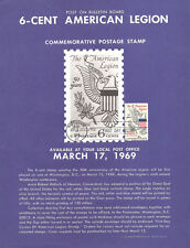 #1369 6c American Legion Stamp Poster - Unofficial Souvenir Page Flat HC