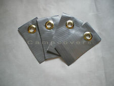 Heavy Duty Grey Grommet Tarp Tabs use with all tarps, Tyvek & plastic sheets