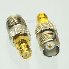 1pce Adapter TNC female jack to RP.SMA female plug RF connector straight F/F