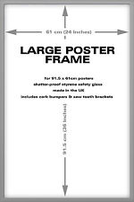 Silver Wood Frame For 36 x 24 Inch Maxi Poster