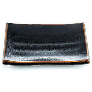 Tenmoku Black Japanese Dinner Plate
