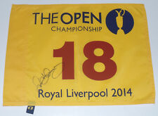RORY MCILROY SIGNED AUTO'D BRITISH OPEN FLAG PSA/DNA COA Y01750 US PGA CHAMPION