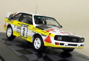 Altaya 1/43 Scale Audi Sport Quattro Rally Monte Carlo 1985 Diecast Model Car
