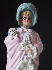 Antique 1800's Pug Dog Puppy w/ Bow~Fancy Lady German Bisque Figure~Irtz Nodder