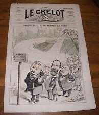 Le Grelot Journal Satirique N°110 Fausse Route Par Alfred le Petit 18 Mai 1873