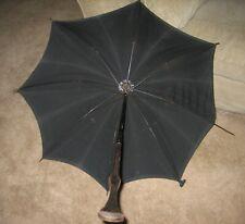 New listing Vintage Victorian Era Umbrella/Parasol marked Superior Quality Mourning