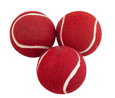 Fine Quality Zing Tennis Cricket Ball- Set of 3 (Red) Us