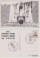 # SCACCHI: TIVOLI - 1973 CAMPIONATO ITALIANO A SQUADRE..CON ANNULLO SPECIALE