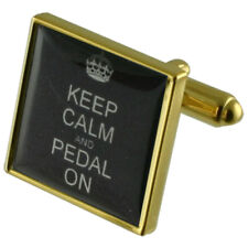 Pedal de bicicleta en la plaza Gemelos Signo De Oro Con Estuche Grabado Personalizado