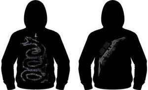 METALLICA - Black Album Burnished - Kapuzenjacke Hoodie w/ Zipper