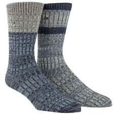Calvin Klein Men's CK 2-Pack Jeans Crew Socks Gift Box, Navy / Grey, One Size