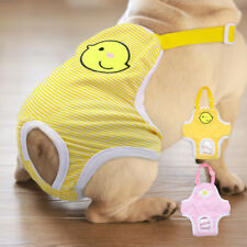 Cute Dog Sanitary Nappy Pet Physiological Pants Soft Fabric Diaper Underwear M-L