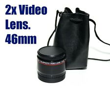Video Telephoto Lens 2.0x coated 46mm thread fitting