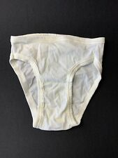 Vtg New Mens Jockey Micro 3 Skants Bikini Brief No Fly White Small Usa Made