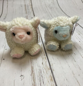 Vintage Puffkin Plush Lamb Lot Set Easter Limited Edition 2000