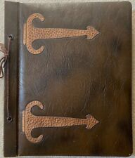 Arts & Crafts Era UNUSED SCRAP BOOK w FAUX HAND HAMMERED COPPER HINGES, c. 1920s