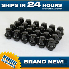24 pcs Black Toyota Lexus Mag Style Lug nuts 12x1.5 fits stock factory OEM wheel