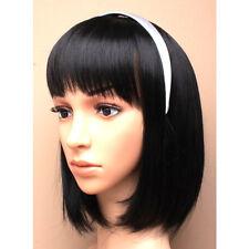 12 Elegantes 2,5 Cm Blanco Satin Diadema hairband aliceband Boda Gallina Noche Fiesta