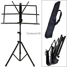 Adjustable Folding Sheet Music Stand Score Holder Mount Tripod Carrying Bag HOT