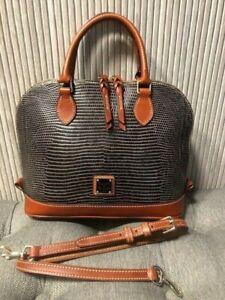 Authentic DOONEY & BOURKE Snake Leather Zip Zip Satchel Bag
