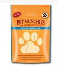 Pet Munchies ~ Ocean White Fish ~ 4 x Packs (100g/Pack) ~100% Natural Dog Treats