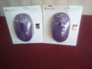 Microsoft 3-Button Optical Scroll Wireless Mobile Mouse 1850 PURPLE