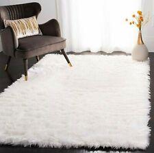 White Shaggy Faux Fur Rug