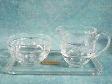 Nachtmann  Glass Crystal Creamer Sugar Bowl set Vintage Germany NEW  IN BOX