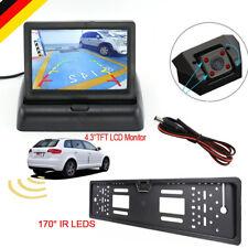 Funk 170° LED IR Rückfahrkamera kennzeichen Auto  Nummernschild Einparkhilfe