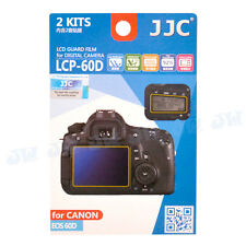 JJC 2Kits LCD Display Guard Film Screen Cover Protector For Canon EOS 60D Camera
