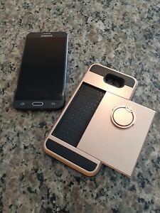 Samsung Galaxy J7 Perx Boost Mobile/Virgin Mobile W/ Rose Case & Ring Stand