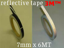 3M™ 580 scotchlite reflective vinyl tape stripe for wheel black color 7mm x 6MT