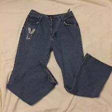 Butterfly Embroidered Jeans Demin Women's Size 10 Rue 21