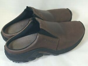 Merrell Jungle Slide Women's Size 9, Leather Brown Suede Clogs Mules