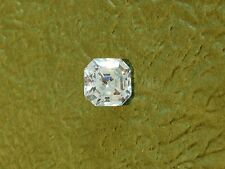 TWO  PCS  - 1 CT ASSCHER LAB SIMULATED DIAMOND WHITE 5.5 X 5.5 MM