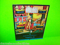 CLEOPATRA By GOTTLIEB 1977 ORIGINAL SS PINBALL MACHINE SALES FLYER BROCHURE
