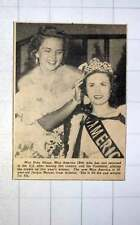 1949 Bebe Shopp Placing Crown On Jacque Mercer From Arizona Miss America