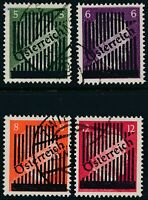 Stamp Austria SC 399-402 1945 WWII Adolf Hitler Overprint Germany Used