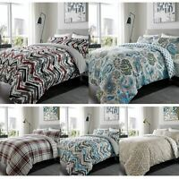 100% Brushed Cotton Flannel Duvet Cover Single Double King Size Bedding