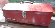 Vintage WATERLOO Large TOOL Box METAL Red